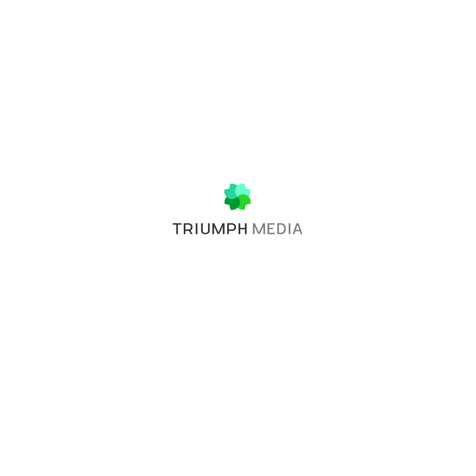 Разработка логотипа  TRIUMPH MEDIA с изображением клевера фото f_506f93804136b.png