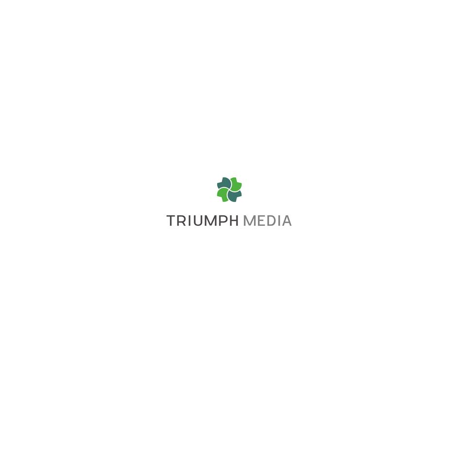 Разработка логотипа  TRIUMPH MEDIA с изображением клевера фото f_507064ca3d2c6.png