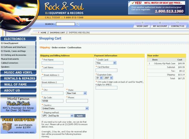 Rock&Soul - Нью-Йоркский интернет-магазин для диджеев [osCommerce]