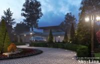 Ночная визуализация придомовой территории