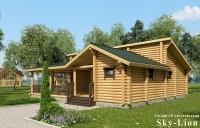 3д визуализация деревянной бани