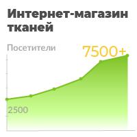 Интернет-магазин тканей с 2500 до 15000 чел в месяц из поиска за 7 месяцев