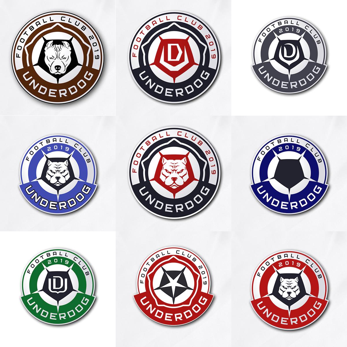 Футбольный клуб UNDERDOG - разработать фирстиль и бренд-бук фото f_5735cb2658426b0e.png