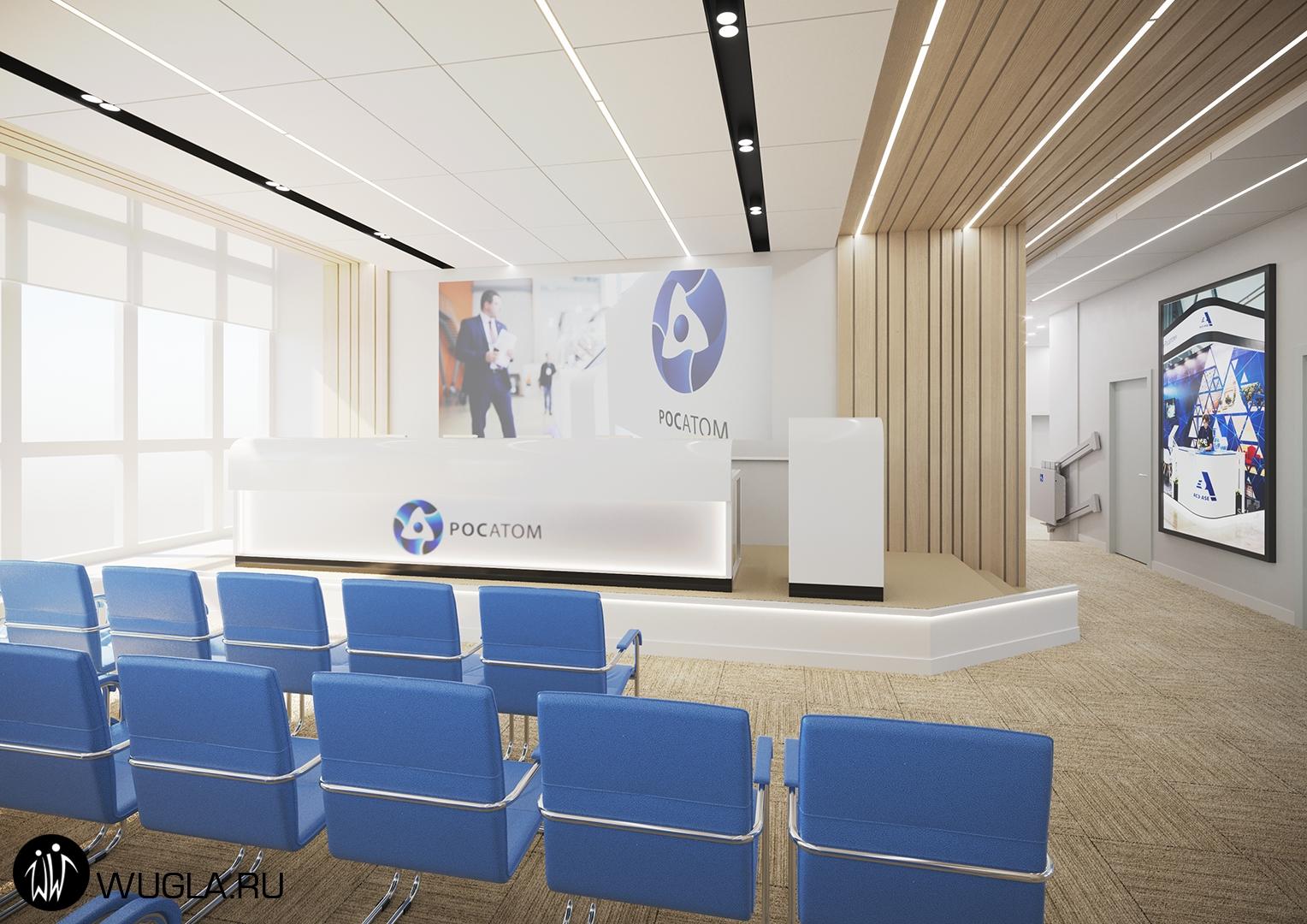 Москва. Визуализация конференц-зала и переговорной.