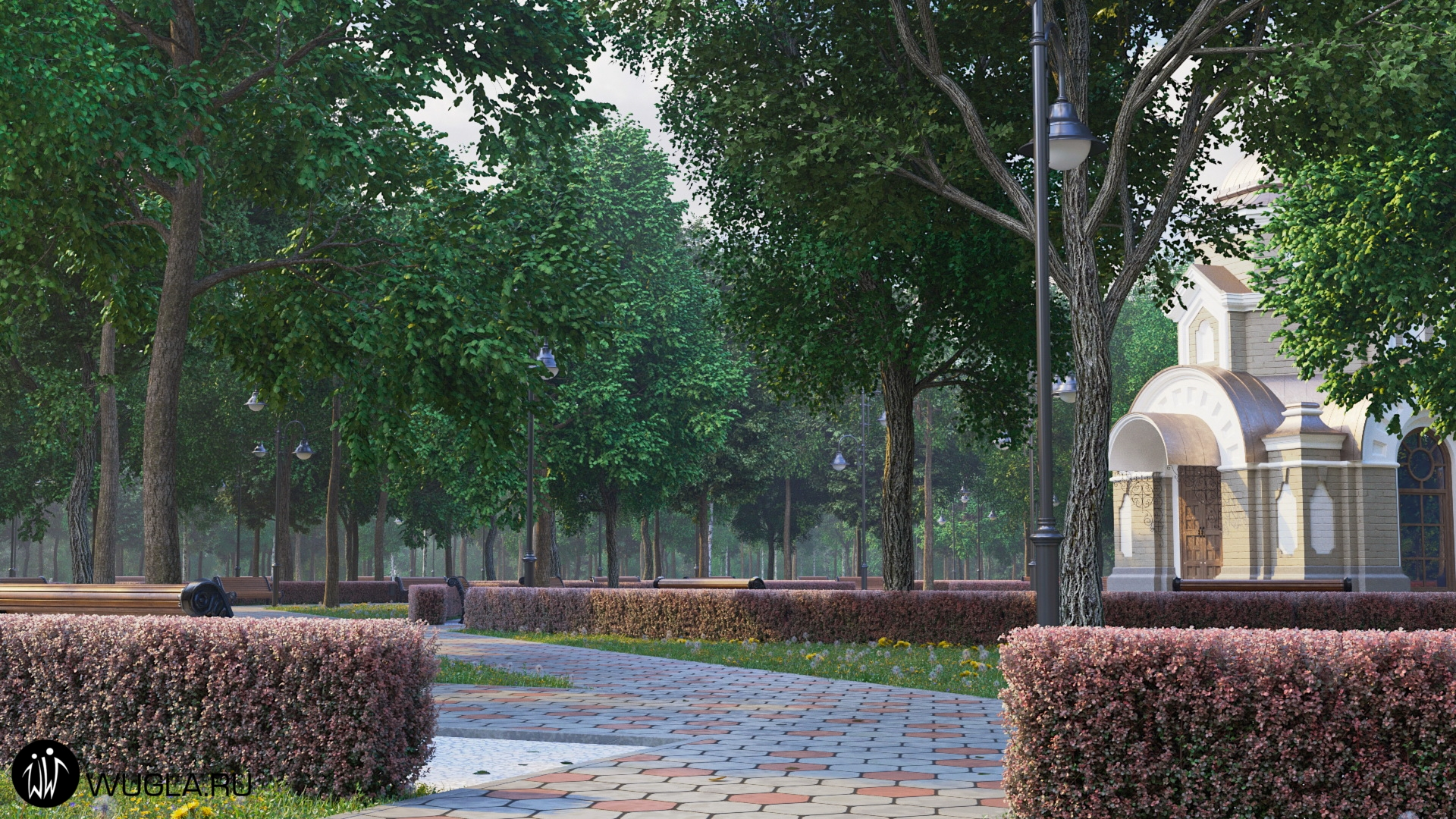 Новая территория мемориального комплекса  Митинского кладбища