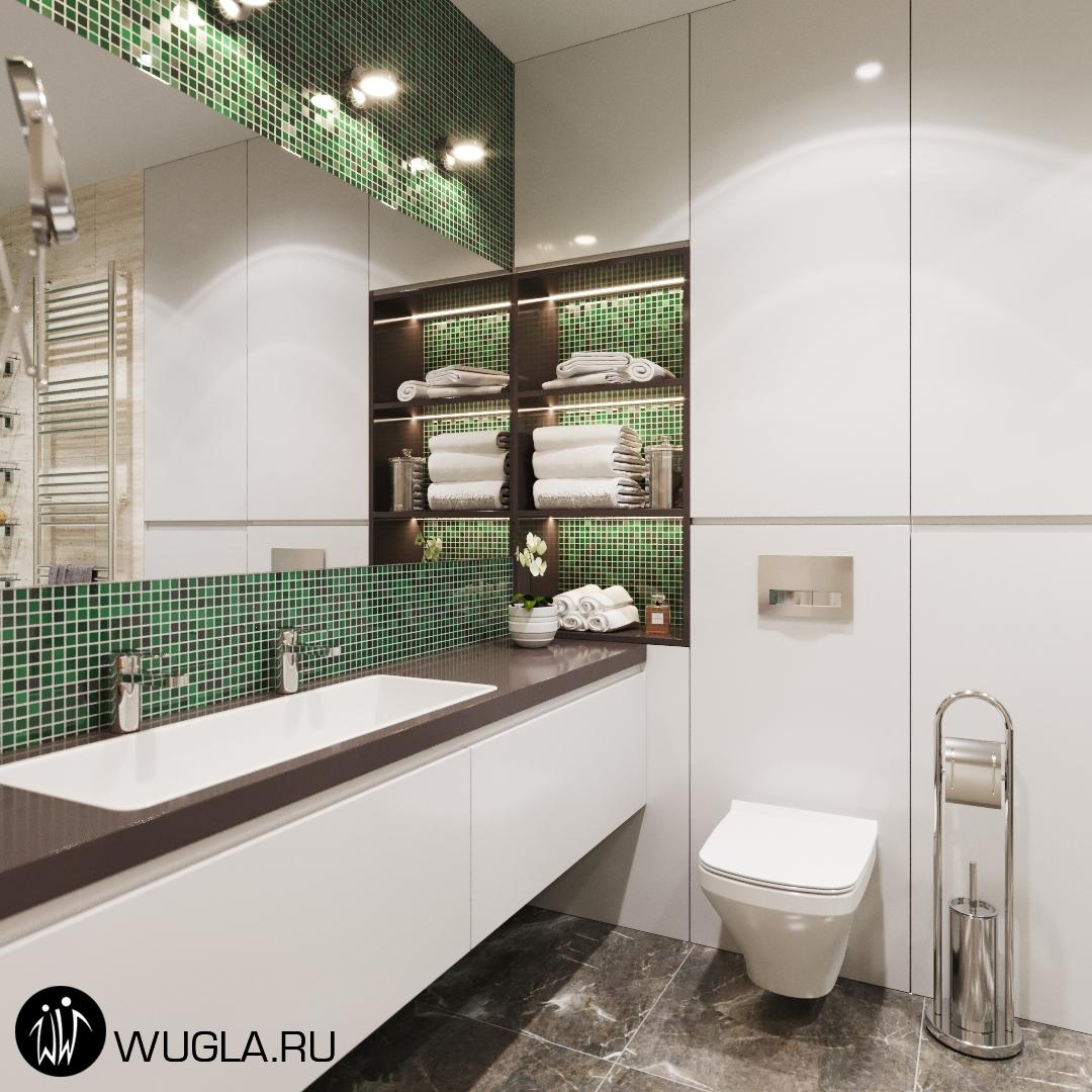 Москва, ул. Маршала Захарова. Дизайн ванной.