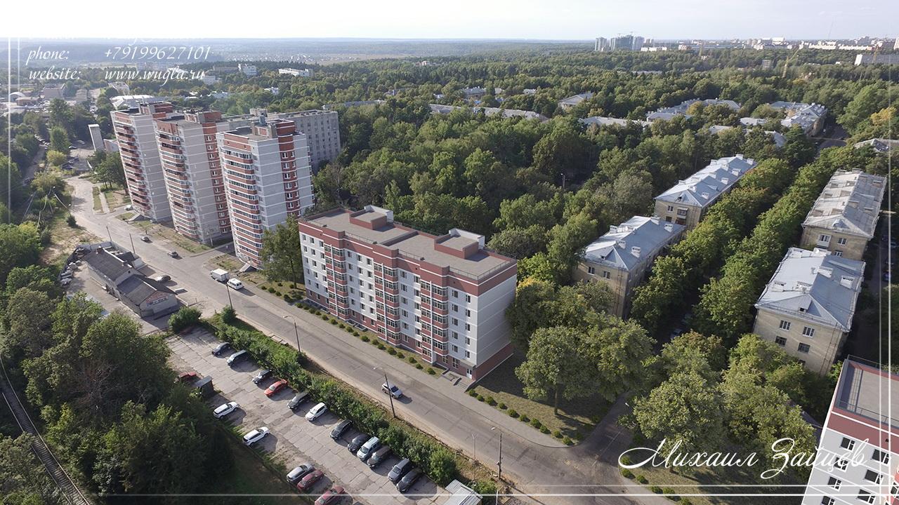 Фотомонтаж 2-х шестиэтажных зданий