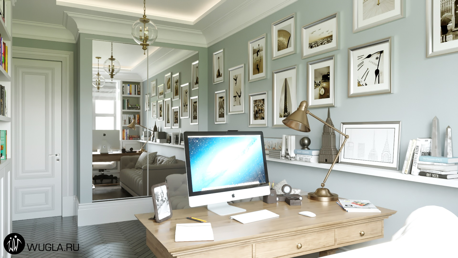 Москва. Дизайн кабинета.