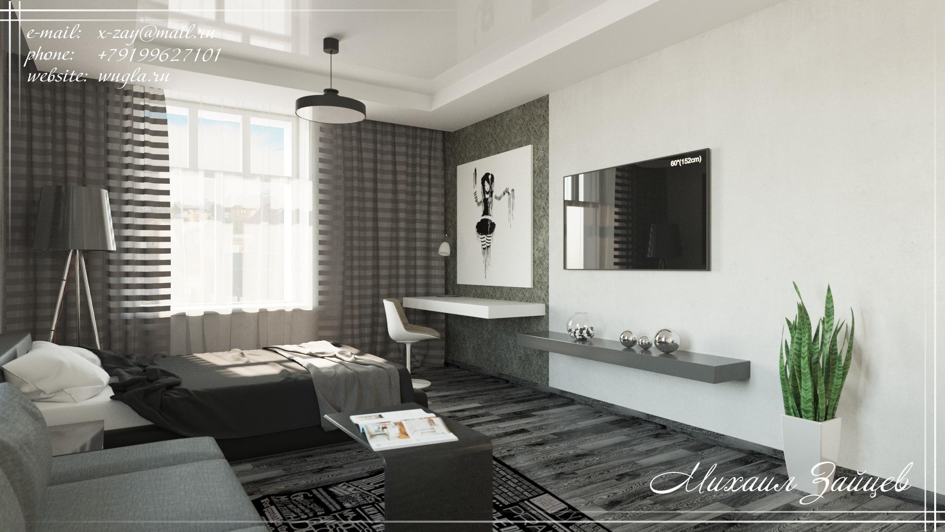 МО, д. Покровское. Дизайн комнаты подростка.