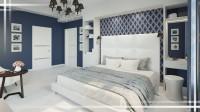МО, д. Покровское. Дизайн интерьера спальни.