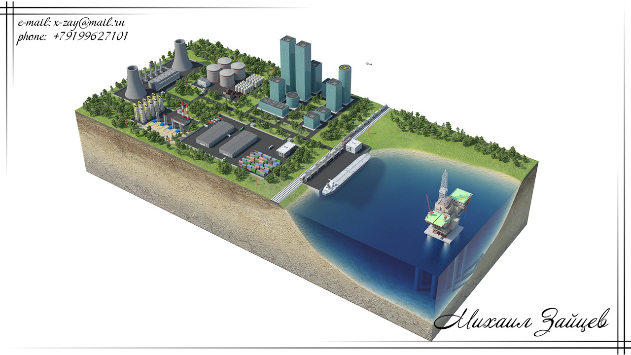 Схема инфраструктуры города