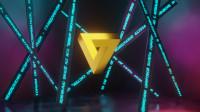 3d анимация логотипа (Треугольник Пенроуза)