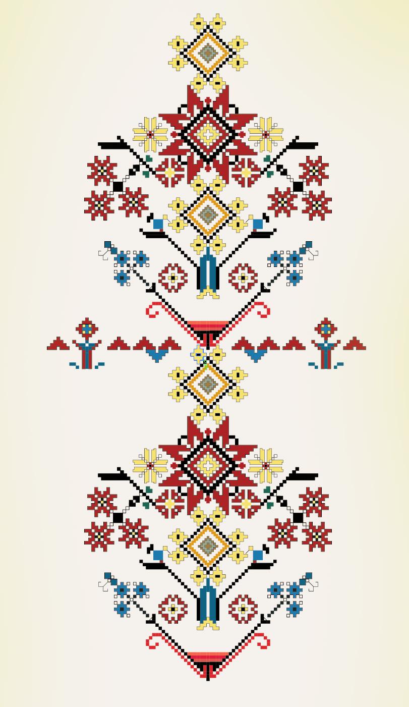 Urkainian ornament design element