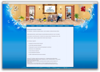 Сайт визитка клининг компании