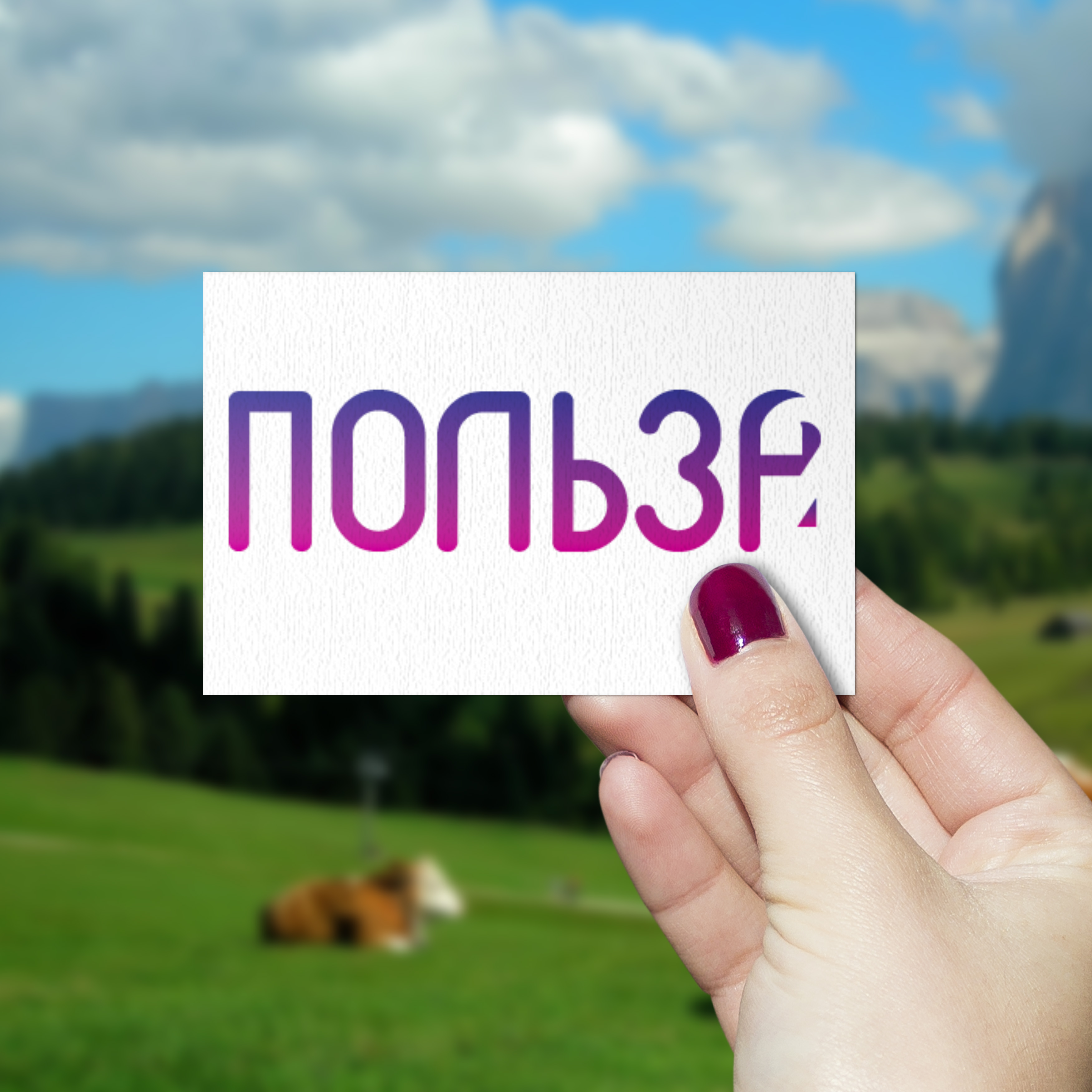 """Лого """" ПОЛЬЗА2""""  Конкурсная работа , 1-ое место"""