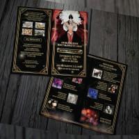 Буклет «Варьете», формат 210x210, 4+4, 1 сгиб