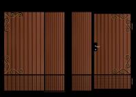 Кованные ворота в векторе