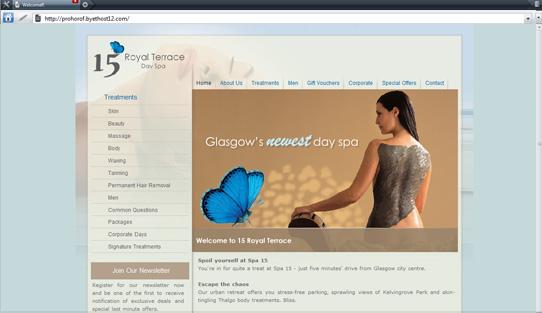 Сайт для спа салона
