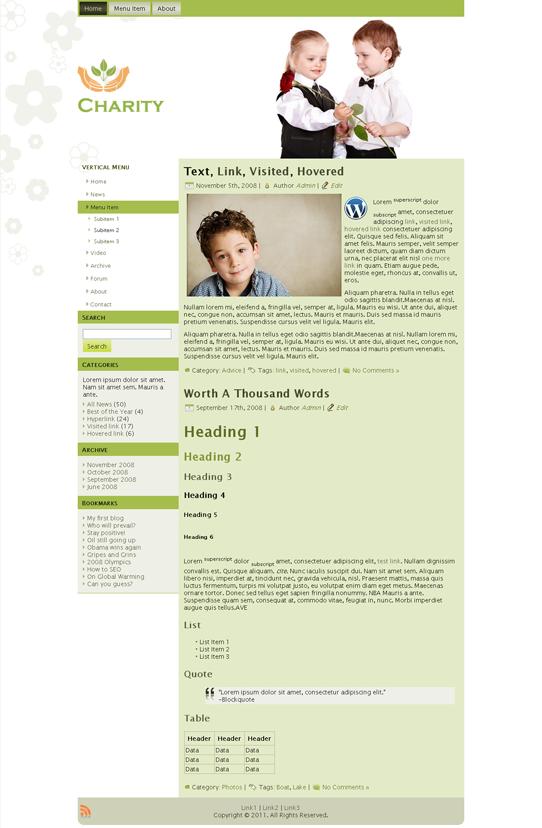 Готовый шаблон для детского сайта (joomla, wordpress, drupal) - продается