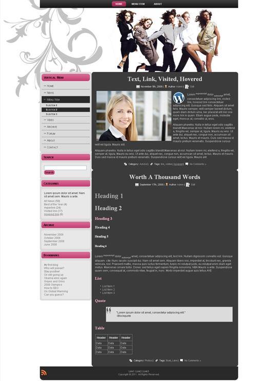 Готовый шаблон на тему моды (joomla, wordpress, drupal) - продается