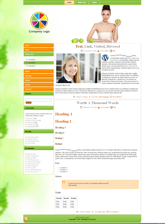 Готовый шаблон сайта о здоровье (joomla, wordpress, drupal) - продается