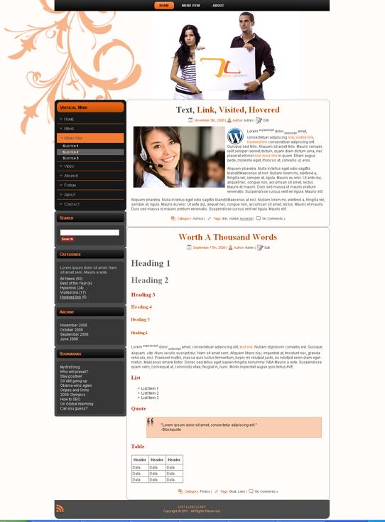 Готовый шаблон для корпоративного сайта (joomla, wordpress, drupal) - продается