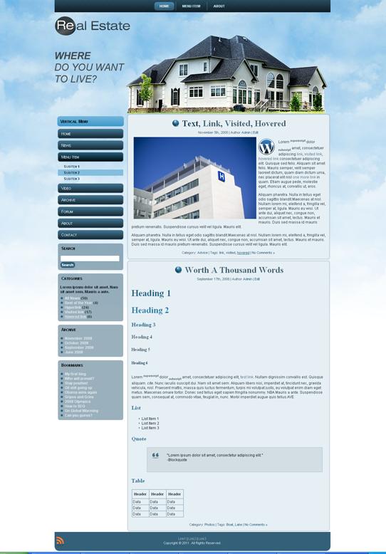 Готовый шаблон сайта недвижимости (joomla, wordpress, drupal) - продается