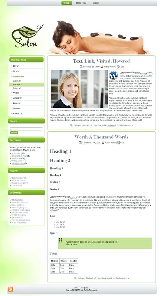 Готовый шаблон сайта салона красоты (joomla, wordpress, drupal) - продается