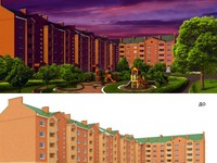 Отрисовка автомобиля или замена окружения и ландшафта для домов и...