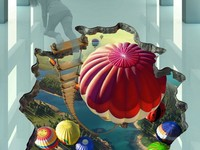 Создание 3Д картины (оптической иллюзии) для выставок, рекламы (до 4-5 метров)