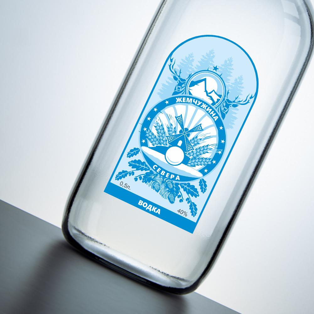 Требуется разработка этикетки для водки ТМ Жемчужина Севера фото f_68959e6697689330.png