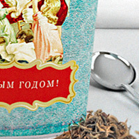 Упаковка подарочного новогоднего чая