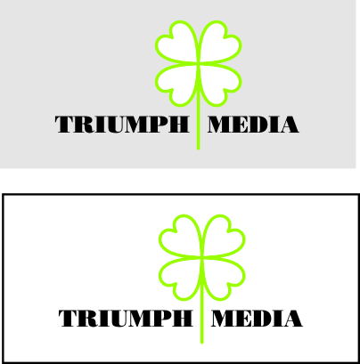 Разработка логотипа  TRIUMPH MEDIA с изображением клевера фото f_5072a5d383dd0.jpg
