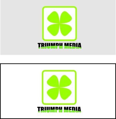 Разработка логотипа  TRIUMPH MEDIA с изображением клевера фото f_5072a5e41d481.jpg