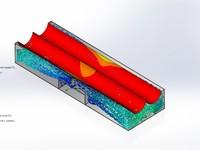Расчёт реактора на нагрев в solidworks flow simulation