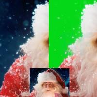 Удаление фона за бородой и снежинками