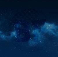 Разделение ночного неба на звёзды, туманность и фон. Для параллакса (просмотр в.gif)