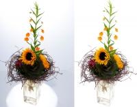 Обтравка большого букета цветов