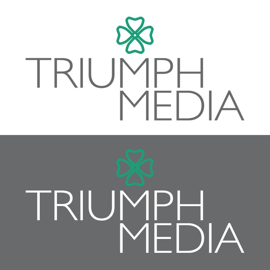 Разработка логотипа  TRIUMPH MEDIA с изображением клевера фото f_50705c1607b17.jpg