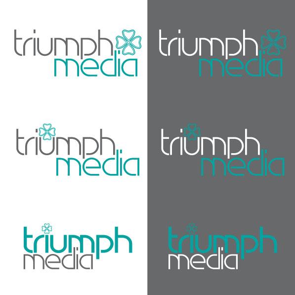 Разработка логотипа  TRIUMPH MEDIA с изображением клевера фото f_5079974fa18cf.jpg