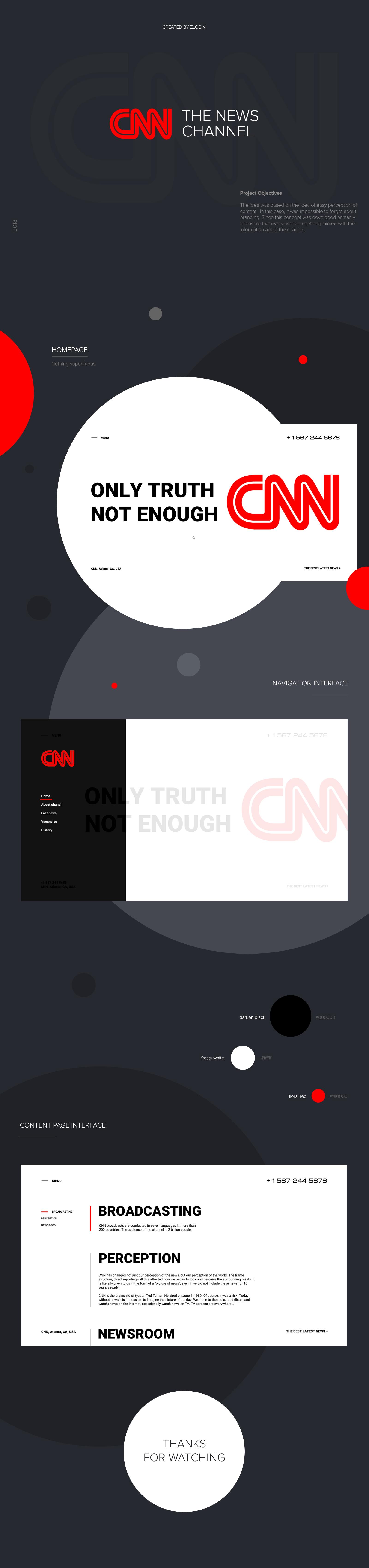 Дизайн сайта CNN Channel