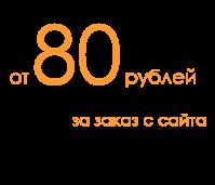 От 80 рублей за заказ с сайта