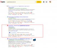 Удаленный доступ - Yandex.ru - 2020