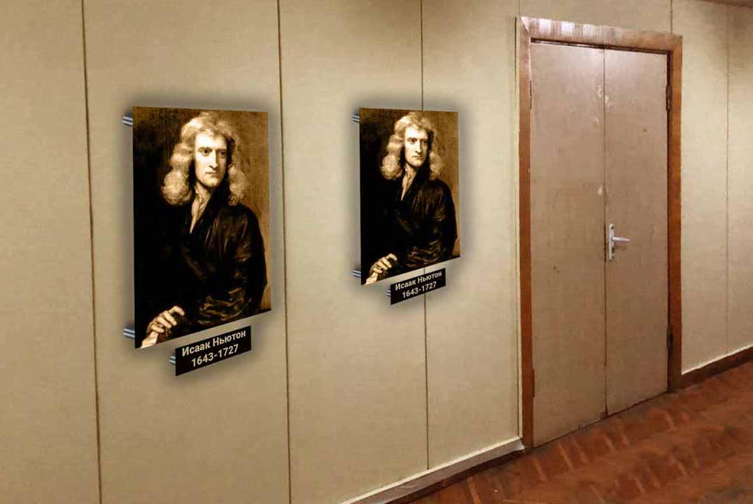 Предложить идею оформления портретов (с информацией) на стене фото f_9065e15a53eee577.jpg